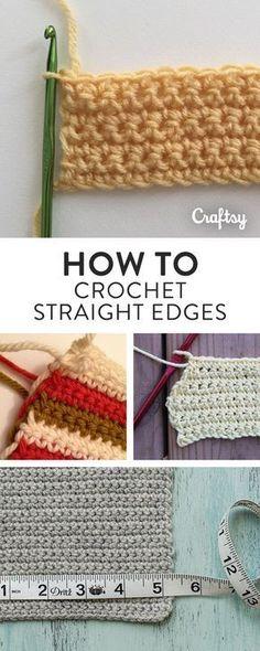 How to Crochet Straight Edges: 7 Tips for Crocheting Perfectly Straight Do the e. - How to Crochet Straight Edges: 7 Tips for Crocheting Perfectly Straight Do the edges of your croche - Crochet Unique, Crochet Simple, Love Crochet, Learn To Crochet, Beautiful Crochet, Double Crochet, Single Crochet, Knit Crochet, Crochet Shawl