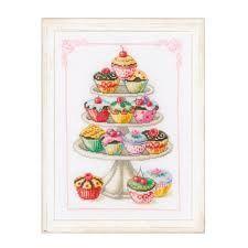 images de point de croix cup cakes - Recherche Google