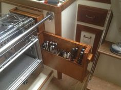 Small Boat Projects - Making Life Aboard Easier: New Stove and New Storage