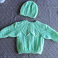voici le model que je viens de finir pour Noé se modele de chez BDF !!!!!!! je l'avais deja tricot a la naissance de mon fils...