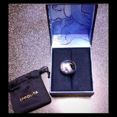 NWOT Ippolita GLAMAZON Sterling Silver Dome Ring Definitely a statement piece! Though large in size, it's hand-hammered detailing is elegant and classy. This item is New, Never Worn and in its Original Box. Ippolita Jewelry Rings