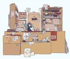店番 Aesthetic Art, Aesthetic Anime, Storyboard, Anime Scenery, Cute Art, Art Inspo, Amazing Art, Art Reference, Concept Art