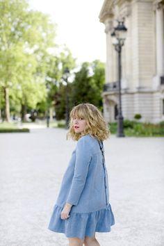 Céline en robe Sagan en jean