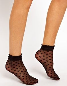 ASOS Socks With Heart Print