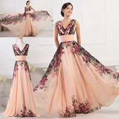 PLUS SIZE 2-24W Vintage Wedding Evening Party Maxi Ball Gowns Long Prom Dresses