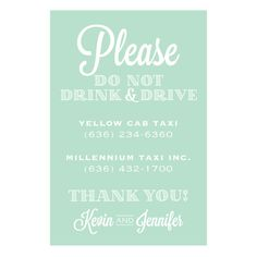 5x7 CUSTOM Don't Drink and Drive Taxi by JollyJulesDesigns on Etsy
