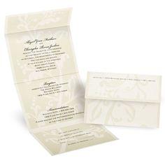 Floral Silhouette - Seal and Send Invitation | Invitations By Dawn