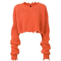 Unravel Project cropped ribbed detail jumper