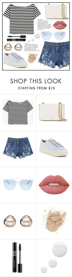 """Bubbly"" by belleshines ❤ liked on Polyvore featuring Tory Burch, Marc Fisher LTD, Armani Exchange, Lime Crime, Trilogy, Christian Dior and Topshop"