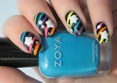 Nails by Kayla Shevonne: Retro Nail Art Series - Rainbow Stripes and Stars