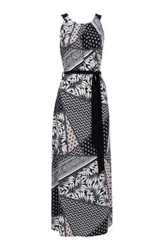 Stone Patched Palm Print Maxi Dress #WallisEscapes