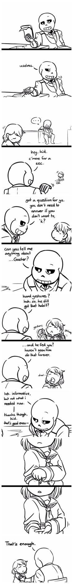 Sans and Frisk - MobsterUT #AU #comic