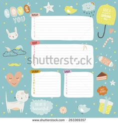 Romantic and love cards, notes, stickers, labels, tags with Spring illustrations. Template for scrapbooking, wrapping, congratulations, invitations. Lovely vector wishes with cute animals and sweets
