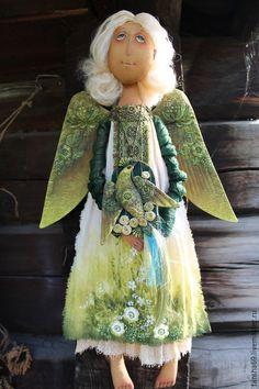 Коллекционные куклы ручной работы. Ярмарка Мастеров - ручная работа. Купить Сказки старого леса.... Handmade. Болотный, ангел