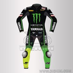 Pol Espargaro Motogp 2016 Yamaha Monster Leather SuitPol Espargaro Motogp 2016 Yamaha Monster Leather Suit - Pre-curved sleeves for proper riding position, Dual stitched main seams for excellent tear resistance, Nylon Stitched, Leather Patches throughout the Body shell, This suit features excellent