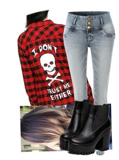 """""""Untitled #9091"""" by onedirection-emblem3 ❤ liked on Polyvore featuring LE3NO"""