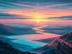 Sunrise Landscape Wallpaper, HD Artist 4K Wallpapers, Images, Photos and Background - Wallpapers Den
