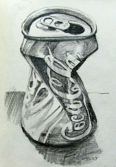 Sketch of Cola tin