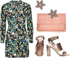 Retro Floral Doll Dress
