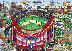 Charles Fazzino - Baseball Pop Art - Brooklyn Ebbets Field   Flickr - Photo Sharing!