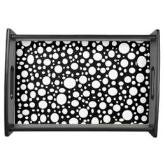 Black Sea of Bubbles Serving Tray