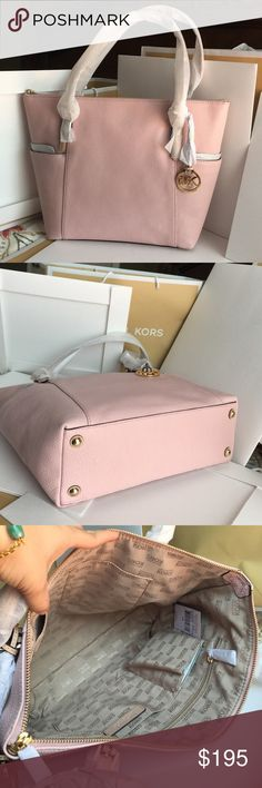 Michael Kors Bag 100% Authentic Michael Kors Tote Bag, brand new with tag!Blossom color. Michael Kors Bags Totes