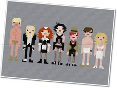 Pixel People  The Rocky Horror Picture Show  by weelittlestitches, $7.00