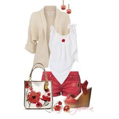 Poppy Colored Summer - Polyvore