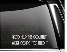 God Help This Country Car Decal- Tumbler Decal -- More info could be found at the image url. (Amazon affiliate link)