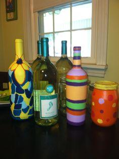 Custom hand painted vases, wine bottles, and mason jars. Msg me if interested.