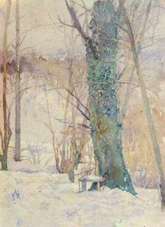 Tree in snow by Slava Raskaj