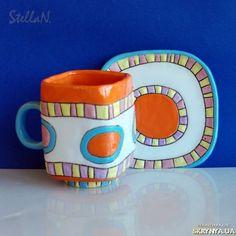 Чашка керамическая, ceramic, glaze. Stella N