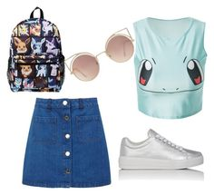 """Pokemon outfit"" by juliaschwartz202 on Polyvore featuring Miss Selfridge, Prada Sport and MANGO"