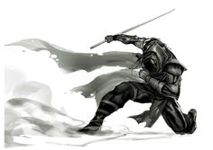 Pretty sweet ninja or monk of some kind. Not my artwork, just clearing space on my HDD.