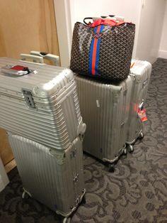 Travel light? 4 Rimowa cases + Goyard