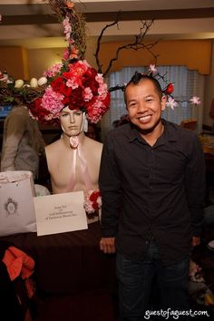 My collaborator Golf Srithamrong with one of his other designs, inspiration for Episode 5 of Bravo's 'Mad Fashion'