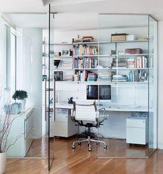 Desain Setting Kantor Konsep Minimalis Transparan dan Kompak