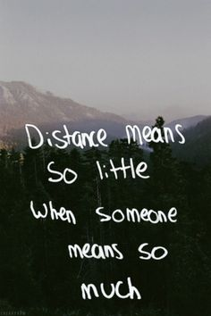I like to pretend it does but distance hurts regardless