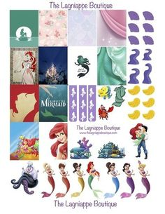 Disney's The Little Mermaid Free Weekly Planner Stickers Download created for you by The Lagniappe Boutique