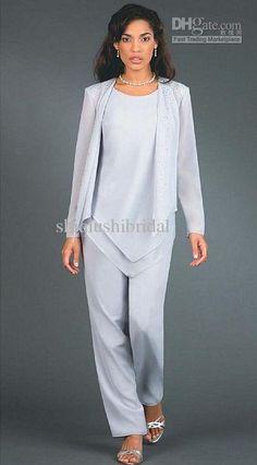 516b32299876d Ursula Plus Size Wedding Mother Dressy Pant Suit 41114 image