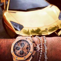 Golden Wristgame  #lamborghini #supercar #good #watch #watchporn #wristgame #rich #money #millionaire #timemillionaire #lifestyle #luxury #luxurylife #dreambig #time #gentleman #success #mensfashion #fashion #bracelet