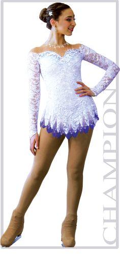 Sharene Skatewear designer dresses for figure skating, ice skating, baton… Figure Skating Competition Dresses, Figure Skating Outfits, Figure Skating Costumes, Figure Skating Dresses, Dance Outfits, Sport Outfits, Figure Ice Skates, Gymnastics Costumes, Ice Princess