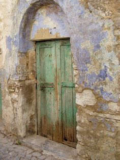 Door in Mesta Chios