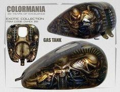 Custompainting Tank Skulls Airbrush