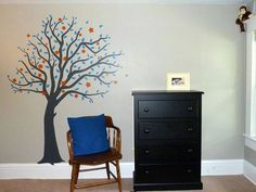 Nursery Tree ideas Tree stickers kid bedroom ideas  Uppercase Living Nursery Ideas  Personalize your nursery  *52 colours of vinyl to choose from www.facebook.com/UlwithAng http://angtresoorcarlson.uppercaseliving.net/Home.m