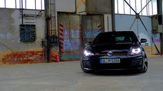 VW Golf MK7 GTI Performance in an abandoned industrial building