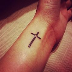 Cross and heart Tatoo