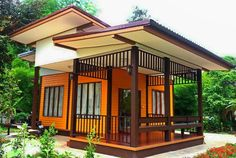 FYI: Small Bungalow House Design With Floor Plan Philippines Small Bungalow, Bungalow House Design, Small House Design, Bali, Custom Home Designs, Custom Homes, Eco Casas, French Country Chairs, Beautiful Small Homes