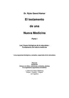 Ryke geerd hamer, el testamento de una nueva medicina vol. 1