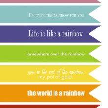 Rainbow Quotes #freeprintables #stpatricksday  #ishareprintables